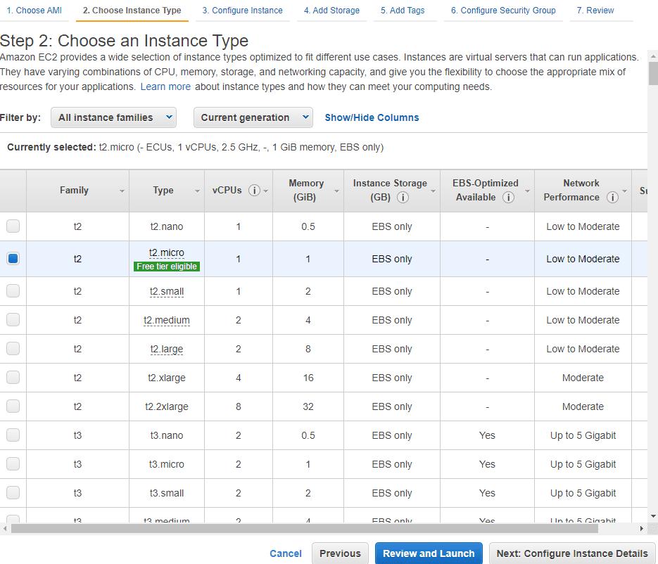 choosing an ec2 instance